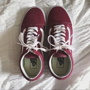 maroon vans old skool